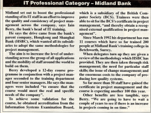 Midland Bank Prizewinner article