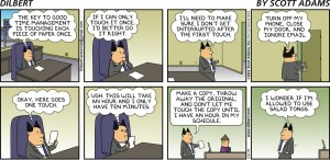 One touch - Dilbert cartoon